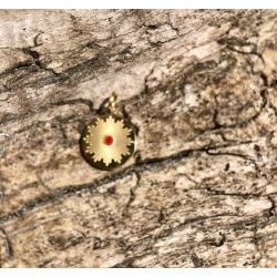 Le pendentif médaille rond