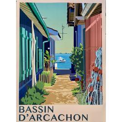 Affiche Bassin d'Arcachon &...