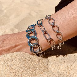 Le bracelet maille allongé