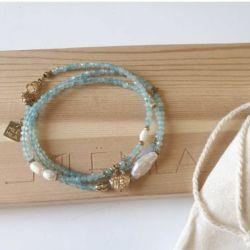 Le bracelet aigue-marine